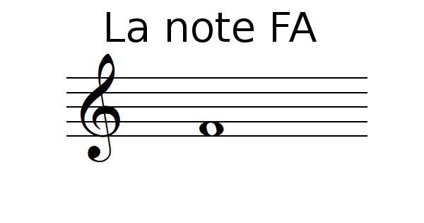 La note FA