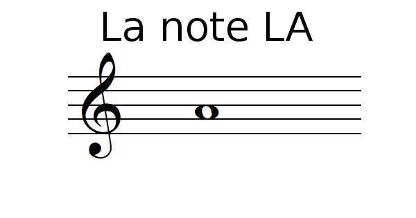 La note LA
