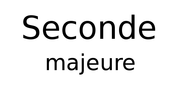 Seconde majeure