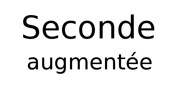 Seconde augmentée