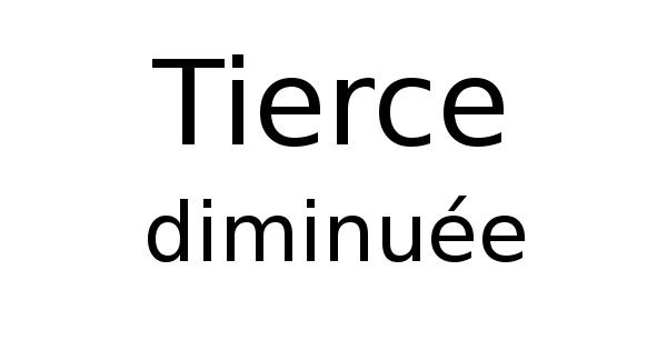 Tierce diminuée