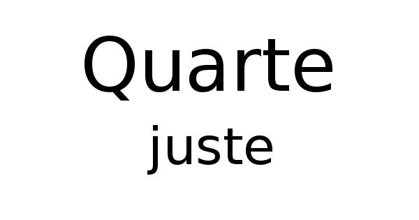 Quarte juste