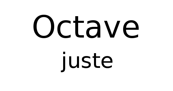 Octave juste