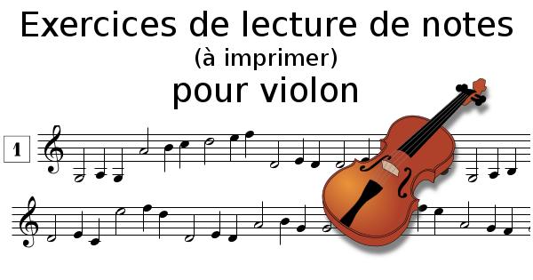 Lecture de notes pour violon à imprimer