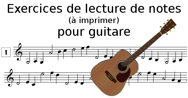 Lecture de notes pour guitare à imprimer
