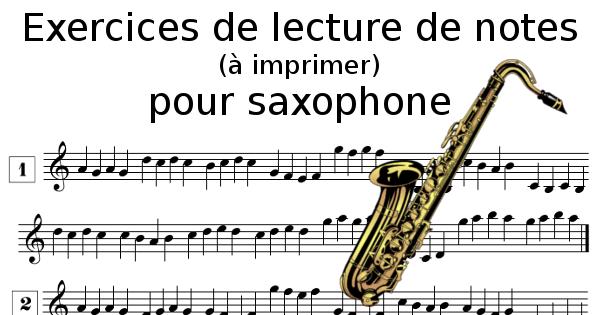 Lecture de notes pour saxophone à imprimer