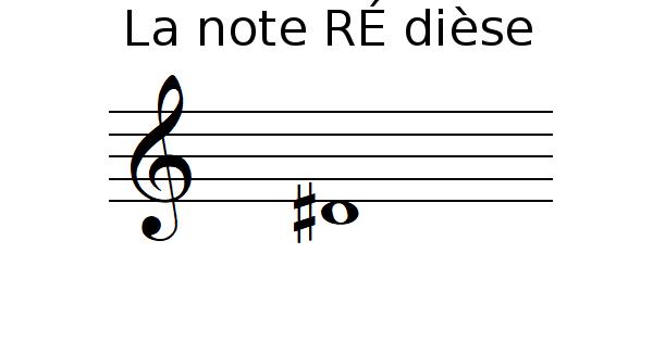 La note RÉ dièse