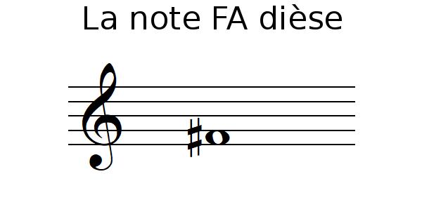 La note FA dièse