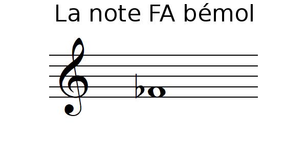 La note FA bémol