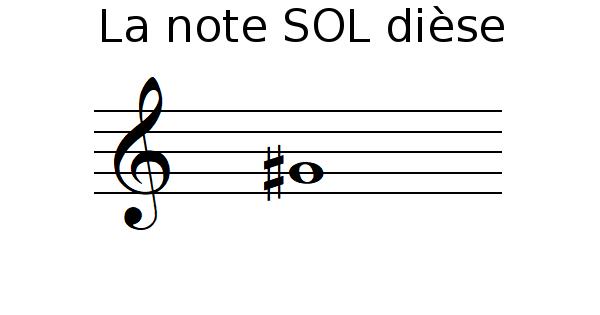 La note SOL dièse