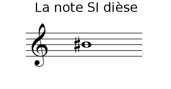 La note SI dièse