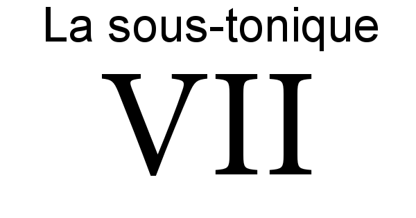 La sous-tonique