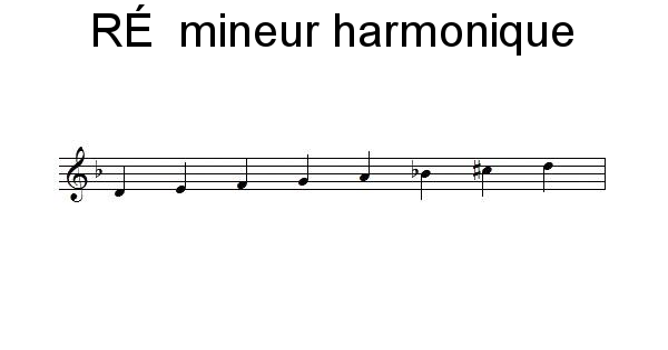 Gamme de RÉ mineur harmonique