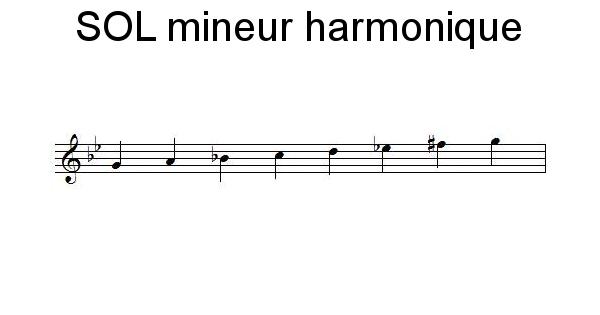 Gamme de SOL mineur harmonique