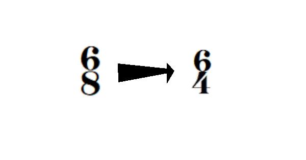 Convertir une partition 6/8 en 6/4