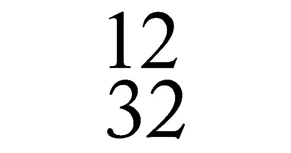 Exemples de mesure à 12/32