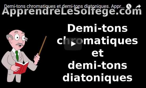 Demi-tons chromatiques et demi-tons diatoniques